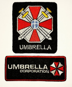 Resident Evil Umbrella Patches 3.5x8.5 / 6.5x7 Cm Sew/iron on Patch to Cloth, Jacket, Jean, Cap, T-shirt and Etc.