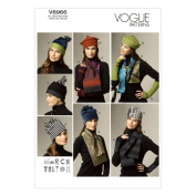 Vogue Patterns V8966 Scarves, Fingerless Gloves and Hat Sewing Template, All Sizes