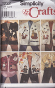 Misses Appliqued Jacket In Two Lengths And Permanent Ink Transfers For Applique Simplicity Crafts Sewing Pattern 7032 (Size H