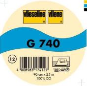 Vilene Iron-on Woven interfacing G 740 ecru-coloured; width 35.10 inch/90cm, price per metre
