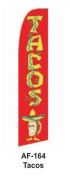 HPP 11-1/2' X 2-1/2' Brand New Advertising Tall Flag- tacos