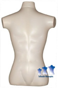 Inflatable Mannequin, Male Torso, Standard Size Ivory