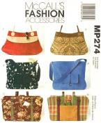 McCalls 4608 Craft Pattern Handbags Purses Sewing Pattern