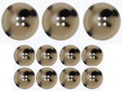 Coat Buttons Set (11) Tan Mix