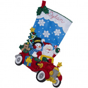Bucilla 46cm Christmas Stocking Felt Applique Kit, 86451 Holiday Drive
