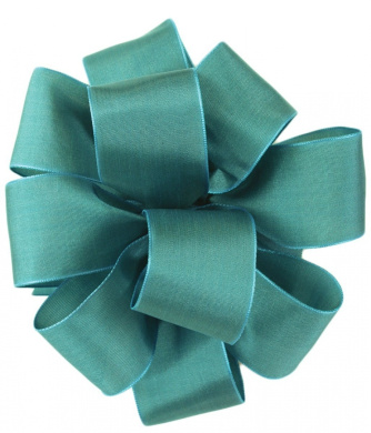 Offray Wired Edge Gelato Craft Ribbon, 3.8cm Wide by 25-Yard Spool, Turquoise