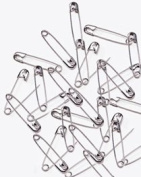 PRYM #00 Safety Pins Nickel Plated Steel Silver Colour 1.9cm