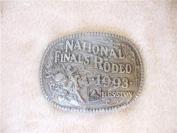 Hesston National Finals Rodeo belt buckle 1993