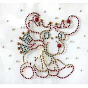 Rhinestone Iron on Transfer Hot Fix Motif Story Cute Deer Design 3 Sheets 5.4* 9.9cm