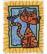 Bucilla Max And Bird Mini Cntd X-Stitch Kit-13cm X6-0.6cm