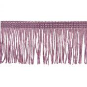 Chainette Fringe 10-Yard Polyester Fringe Rolls for Arts and Crafts, 5.1cm Long, Pink