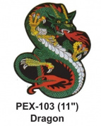 28cm Embroidered Animal Patch Dragon