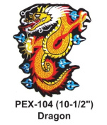 25cm - 1.3cm Embroidered Animal Patch Dragon