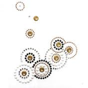Rhinestone Iron on Transfer Hot Fix Motif Crystal Fashion Design Patterns 3 Sheets 4.8* 13cm