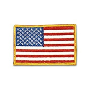 USA - Gold Border Patch - 10cm Dia. - 20 Pack