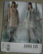 Anna Sui Vogue American Designer Sewing Pattern V2820, Size 6/8/10