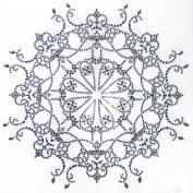 Rhinestone Transfer Hot Fix T-shirt Clothing Crafts Cushion Tattoos Circular Patterns Design 1 Sheets 8.6* 22cm