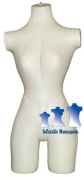 Inflatable Mannequin, Female 3/4 form, Ivory