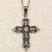 Rhinestone Cross Carded