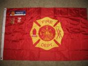 Fire Dept Embroidered Flag