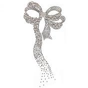Rhinestone Transfer Hot Fix Motif Fashion Design Jewellery Brown Ribbon 3 Sheets 4.3*22cm