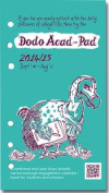 Dodo Acad-Pad Filofax-Compatible Personal Organiser Diary Refill 2014 - 2015 Week to View Academic Mid Year Diary
