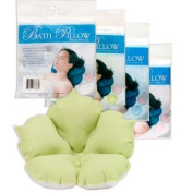 Inflatable Bath Pillow with Suction Cups, Vinyl Pillow, Coated in Terry Cloth for Extreme Comfort