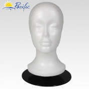 Female MANNEQUIN head with holder base display wig hat glasses