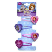 Disney Princess Sofia the First Snap on Barrettes - Girls Hair Accessory