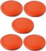 5.1cm - 1.3cm Harvard Red Air Hockey 5 Puck Set