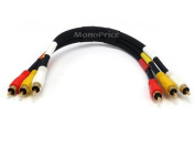 Monoprice 0.3m Triple RCA Stereo Video Dubbing Composite Cable