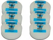 6 Pack JFJ White Pads for JFJ Single/Double Arm Machines
