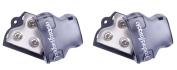 2) ROCKFORD FOSGATE RFD1 0/1/4-Gauge Ga Car Audio Distribution Block 1-In 2-Out