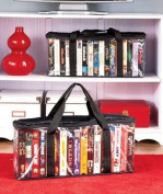 SET OF 2 VHS STORAGE CASES ; STORE UP TO 34 TAPES - Preserve And Organise Your Valued Collections With These Storage Organiser Sets
