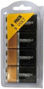 Duracell MN1604 9 Volt, 4 Pack - in Reusable Plastic Pack