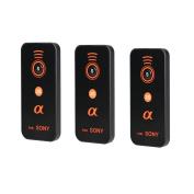 Foto & Tech 3 PCS IR Wireless Remote Control for Sony Alpha Cameras A9, A7R II, A7 II, A7 A7R A7S A6500 A6300 A6000 A55 A65 A77 A99 A900 A700 A580 A560 A550 A500 A450 A390 A380/NEX-7 NEX-6 NEX-5T NEX-5R