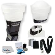 Gary Fong lightsphere Collapsible Speed Mount Light Sphere CLOUD with Speed Mount For Nikon Flash SB-700 SB-900 SB 910 SB-400 SB-600 SB-800 + Cleaning Kit + Digital Grey Card Set
