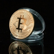 1pc Bitcoin Fine Copper Metal Souvenir Coin Commemorative Coin
