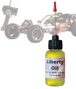 Liberty Oil, 30ml Bottle of the Best 100% Synthetic Oil for Lubricating R/C Radio Controlled Cars and All Types of Vehicles. Does Not Evaporate and Cause Build up on Gears and Moving Parts!!!