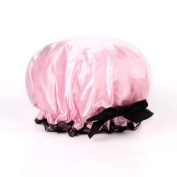 Ayygiftideas Designer Green Floral Shower Cap Bouffant Hat Hair Waterproof Spa Bathing Gift