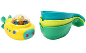 Munchkin Under Sea Explorer Sub and Pour and Strain Whales Bath Toy