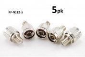 CablesOnline 5-Pack F-Type Female to N-Type Male Antenna RF Adapter