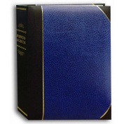 Pioneer Ledger Le'Memo Bi-Directional Bound Photo Album, Solid Black / Blue Colour Covers with Gold Accents, Holds 200 13cm x 18cm Photos, 2 Per Page.