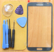 Grey Replacement Front Screen Glass Lens for Samsung Galaxy Note2 II N7100+Tools