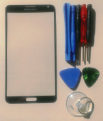 Black for Samsung Galaxy Note 3 N9000 Replacement Front Screen Glass Lens & Tool Kit