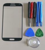 Black Mist for Samsung Galaxy S4 i9500 Replacement Front Screen Glass Lens & Tools