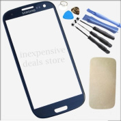 Dark Blue Front Outer Lens Glass Cover Replacement For for for for for for for for for for for Samsung Galaxy SIV S4 GT-i9500+Tools+Adhesive