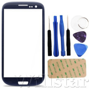 BLUE FRONT OUTER SCREEN GLASS LENS REPLACEMENT FOR for Samsung GALAXY S3 I9300