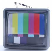 Aquarius Vintage TV Embossed Tin Lunch Box