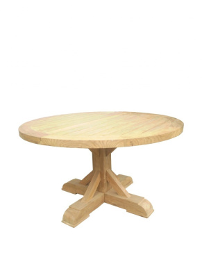 Padma's Plantation Xena Reclaimed Outdoor Teak Round Dining Table